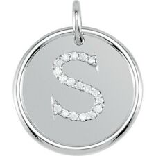 Posh Mommy Jewelry Initial S Roxy Pendant with Diamonds, Silver or 14K Gold