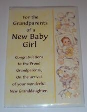 Grandparent On The Birth of A New Baby Girl Card Choose of 2 Design Free Post