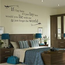 If I Lay Here Snow Patrol Wall Quote Sticker Art Decals Vinyl Decal Decor Q7
