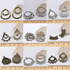 Bronze plated/Tibetan silver earring connectors FOR jewelry making lots