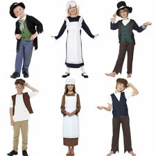 KIDS VICTORIAN GIRLS / BOYS FANCY DRESS COSTUME + HAT – CHILDRENS BOOK WEEK