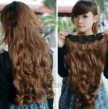 2014-New Fashion Full Head Clip Curly/Wavy Women Girl Synthetic Hair Extension