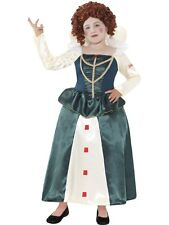 GIRLS HORRIBLE HISTORIES ELIZABETH I TUDOR QUEEN FANCY DRESS COSTUME