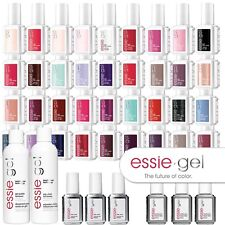 ESSIE GEL NAIL POLISH LED - ALL COLOURS INC NEW 2014 + top/base/cleanser/remover