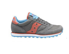 SAUCONY JAZZ LOW PRO Grey Pink Blue 1866 140 Classic Nylon Running WOMEN