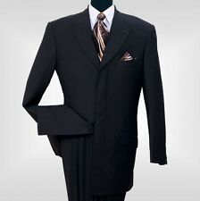 Men's 2 Piece Milano Moda 4 Hidden Button With 3 Back Splits Suit Style 5605