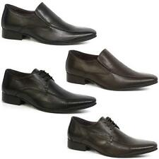 MENS LEATHER SHOES SMART WEDDING ITALIAN NEW FORMAL OFFICE DRESS BOYS SHOES SIZE