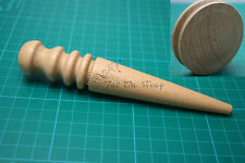 NEW Round Flat Cake Wood Edge Slicker Burnisher Leather craft Working DIY Tools