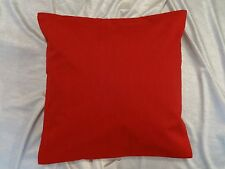 RED cotton cushion case solid color bed pillow cover throw couch chair HD EHS