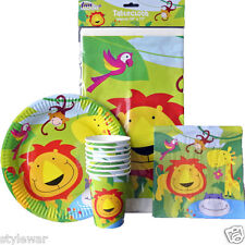 Kids Jungle Birthday Party Supplies Zoo Animals Invites Napkins Bags Tablewear