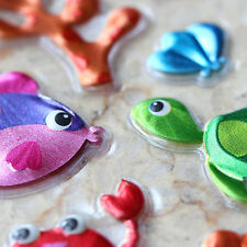 Phone Scrapbooking Sparkle Bubble Stickers Sea Marine Animals Fish LCCLA06002