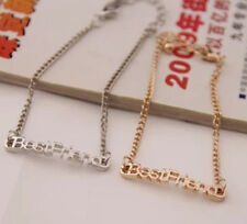 "2014 New Charm Fashion Jewellery ""Best Friend"" Letter Silver&Gold Pld Bracelets"