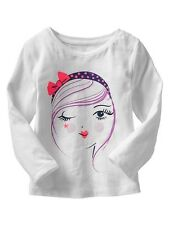 NWT Baby Gap Girl's Elysian Fields Line Winking Girl Top 12-18 18-24 Months 2T