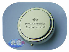 Pocket Travel Personalised Engraved Round Portable Ashtray