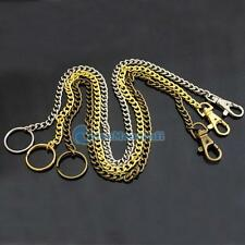 """1 2 5 Swivel Lobster Clasp Snap 18"""" Chain keyring 4 ring money Clip cash Wallet"""