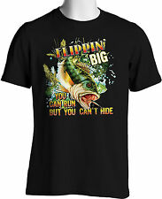 Bass Fishing T-Shirt Big Fish Freshwater Fisherman T-Shirts Small to 3XLTall