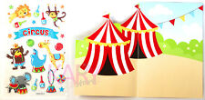 Phone Scrapbooking Game Stickers Cartoon Animals Circus Background LCPBA01002