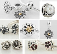 925 Sterling Silver Jaime Flower Garden Beads fit European Bead Charms Bracelets