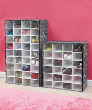 24 OR 36 PAIR Zebra Print SHOE CHEST SHELF BEDROOM CLOSET STORAGE RACK ORGANIZER