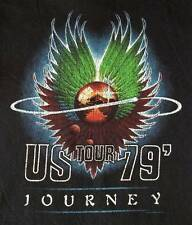 """New!  Journey """"US Tour 1979"""" Distressed Classic Rock Licensed Adult T-Shirt"""