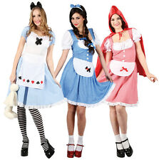 Fairytale Ladies Costume + Tights Book Week Character Womens Fancy Dress Outfit