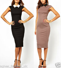 Top Ladies Summer Elegant Work Business Formal  Cocktail Bodycon Pencil Dresses