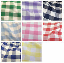 """Corded Gingham Fabric 1"""" (25mm) Check Dress Material  - 44"""" (112cm) wide"""