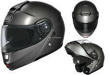 Free 2-Day Ship Shoei Neotec Solid Anthracite Motorcycle Helmet Modular 2014