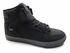 SUPRA VAIDER BLACK CHARCOAL MEN SHOES SIZE 8.5 TO 10.5