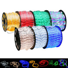 Custom Length LED Rope Light 2 Wire 110V Lighting Outdoor Xmas Christmas 3'-300'