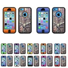 HYBRID CAMO 3 PIECE CASE FOR IPHONE 5C WITH BUILT IN SCREEN PROTECTOR/ NEW
