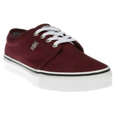 New Mens Fenchurch Red Grind Canvas Trainers Lace Up