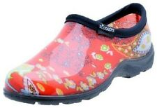 SLOGGERS WOMEN'S GARDEN RED PAISLEY STEP-IN WATERPROOF SHOE RAINBOOTS