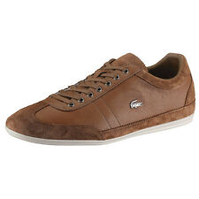 Lacoste Mens Shoes Misano 15 Tan Leather Suede Men Sneakers