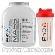 PhD Nutrition Growth Factor Mass 2.1kg 2100g Weight Gainer + Free PhD Shaker