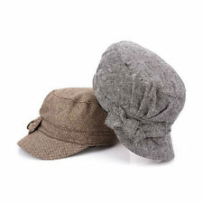 Women's Ladies' Autumn Winter Tweed Newsboy Caps Military Hats Cadet Beret Ivy