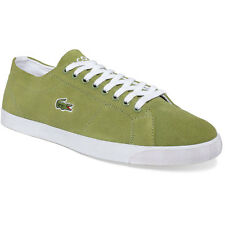 Lacoste Marcel Mens Shoes Suede Fashion Sneakers Khaki Green