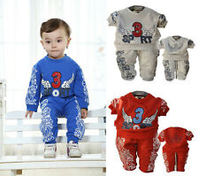 2014 New Cool Baby Boys Clothes Flying Wings Tshirt+Pants Boys Toddler Outfits