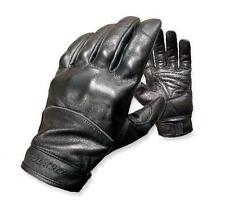 New Olympia Men's Black Leather Full Throttle Motorcycle Gloves