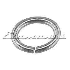 4mm 5mm 6mm 7mm 8mm 9mm 10mm Sterling 925 Silver Strong Open Oval Jump Rings