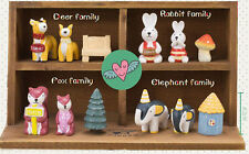 New Super Cute Handmade Adorable Animal Families Love Set of 3 Figures Ornaments