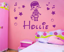 Personalised Doc McStuffins Name,Sticker, Decal,  WallArt, Girl Bedroom Free P&P