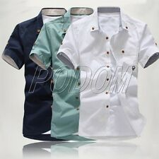 FASHION Mens Luxury Casual Dress Slim Fit Short Sleeve Polo Shirt