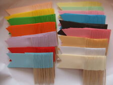 White Sandwich Flags, Food, Party Wedding Buffet, Catering Labels Cocktail Stick