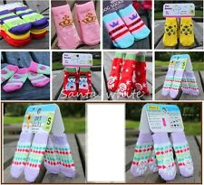 New Lovely Pet Dog Doggy Warm Knitted Socks Clothes Apparels for XS-M Pup