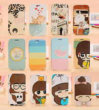 Luxury Painting Cartoon Wallet flip case cover for Samsung Galaxy S2 SII i9100