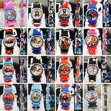 16Style Spider-Man Mickey Tank Engine Cartoon Children's Watches Girl boy gift