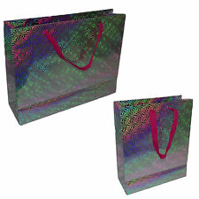 NEW PAPER BAG SHINY COLORED GLOSSY BAGS KRAFT SOS FOOD LUNCH PARTY BAGS