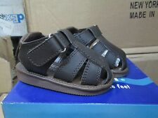 NIB BROWN FISHERMAN SANDALS VELCRO Boys Infant & Toddler size 1-10