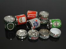 4 PIECE Mini Coke Beer Cans Style Manual Herb Grinder Crusher Screen Tobacco